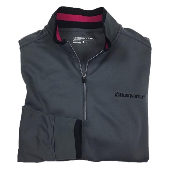 f0381cd609 Nike Golf Mens Gray Dri-Fit Pullover Medium. M 5b747d9dde6f6290a9562057